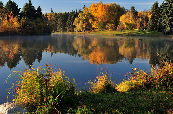 Hawrelak Park in Edmonton with incredible fall colors