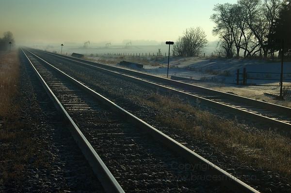 Afternoon Haze and Railroad Tracks