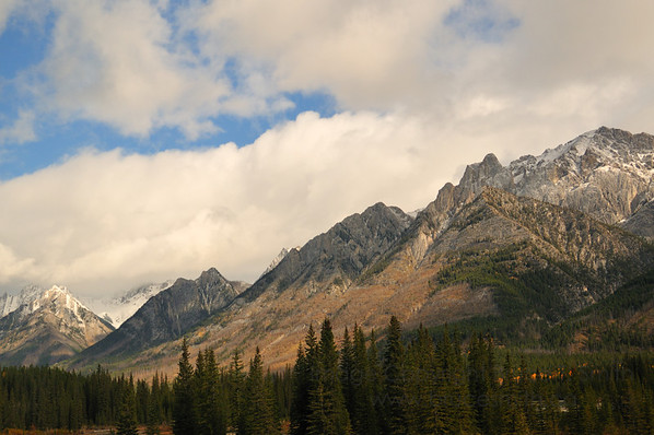 The Rocky Mountains near Banff Alberta in the Autumn