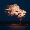 Beautiful, delicate fireworks over Alberta Beach for the Canada Day weekend, 2013.