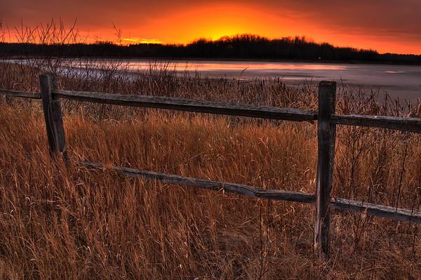Autumn Sunset at the Clifford Lee Bird Sanctuary