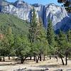 Granite rocks at Yosemite National Park in California.