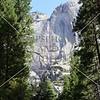 A waterfall at Yosemite National Park in California.