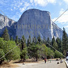 The El Capitan granite rock at Yosemite National Park in California.