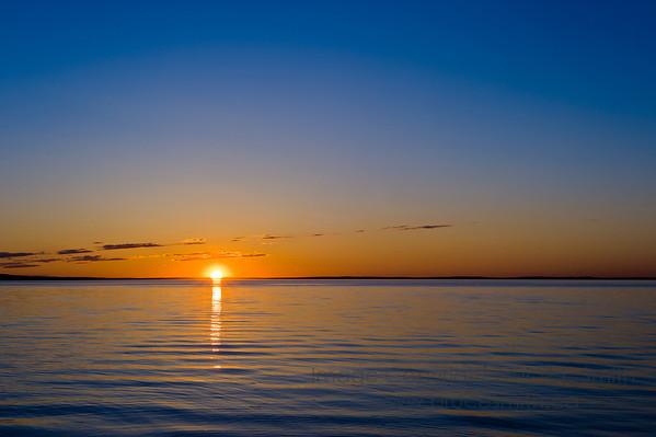 Sunset over Pigeon Lake