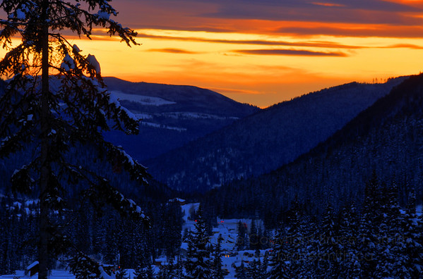 Sunset at Sun Peaks Ski Resort