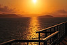 Sunrise from the deck of a cruise ship near the British Virgin Islands