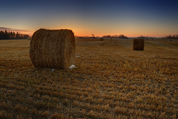 Autumn Harvest Sunset.  Taken west of Edmonton, Alberta in late October.