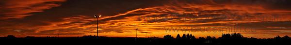 Amazing sunrise panorama over the City of Edmonton
