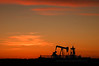 Autumn Sunset with Oilfield Pump Jack