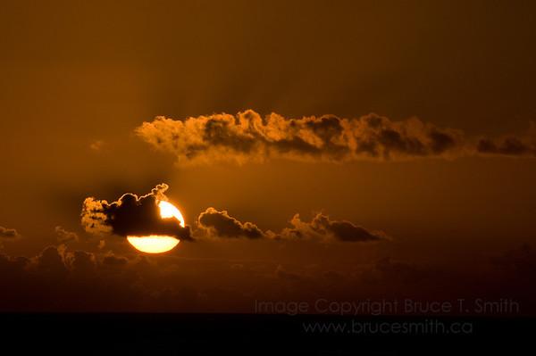 Sunrise near Dominican Republic