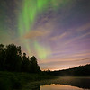 Late June Aurora Borealis over Chickakoo Lakes