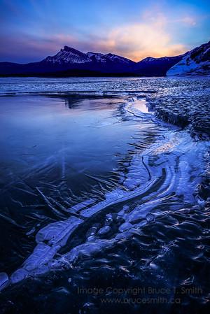 073 Sunrise at Abraham Lake