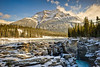 Athabasca Falls and Mount Kerkeslin, Jasper National Park