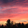 Panoramic view sunset November 2007, WI