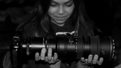 Moon viewing Franken-Camera -- 2x teleconverter + 200 mm lens x 2x crop factor on GF1 = 800mm moon watcher
