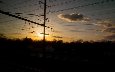 Catenary Corridor Sunset