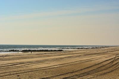 Rough Seas and a near empty beach