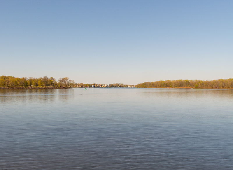 Delaware River in Burlington,New Jersey
