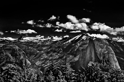 Half Dome from Sentinel DomeBW