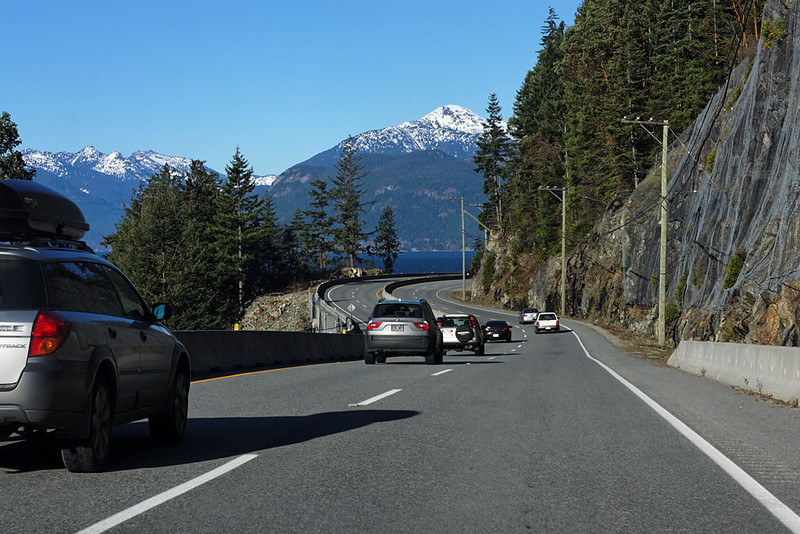 Sea to Sky Highway between Horseshoe Bay and Squamish, December 5, 2009.