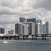 Downtown Miami from the ship