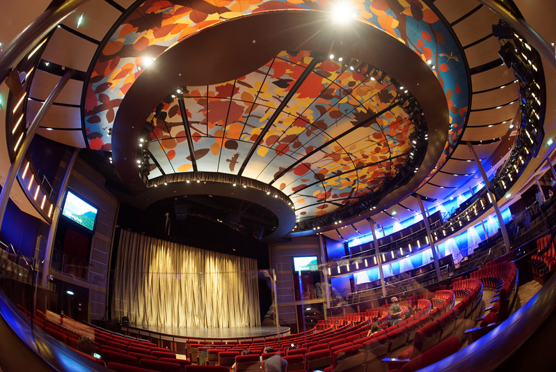Inside the theater on the ship