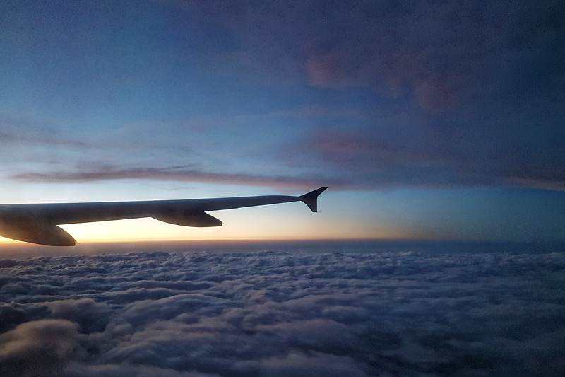 Flying home from Chicago to Vancouver