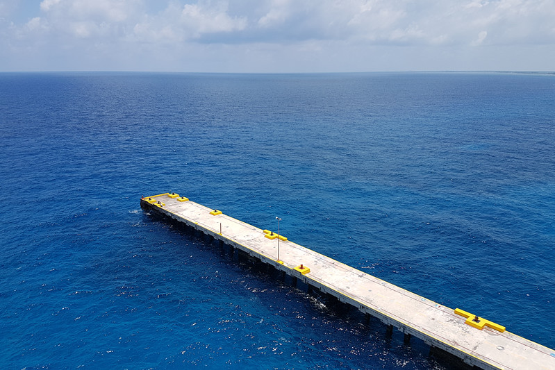 End of the dock at Costa Maya. Yes, the water really was that colour.