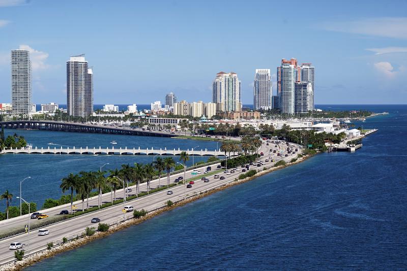 Miami Beach from the ship