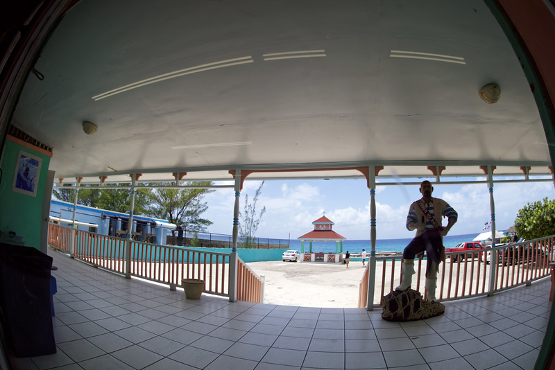 View from the back of the Tortuga store in Grand Cayman