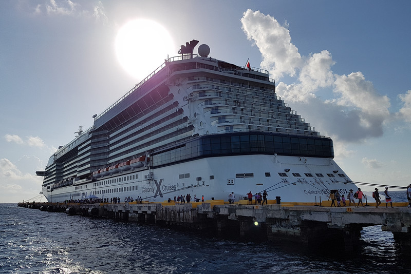 Ship docked at Costa Maya