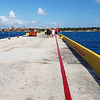 Walking from the ship to Costa Maya