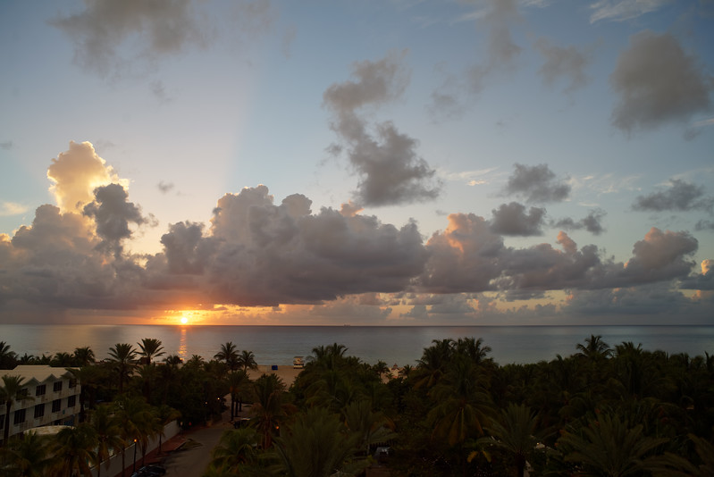 Sunrise from the hotel.
