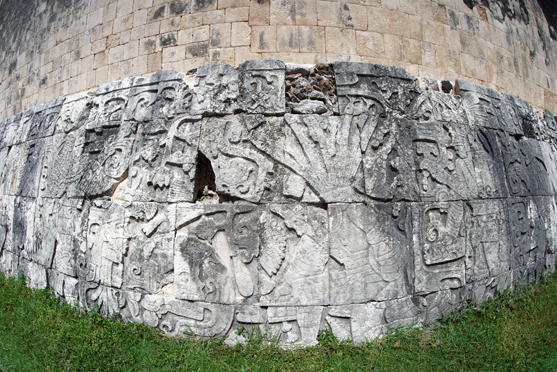 Detail of a wall at the ball court at Chichén Itzá
