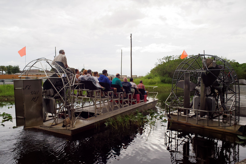 Airboat tour at Gator Park in the Everglades