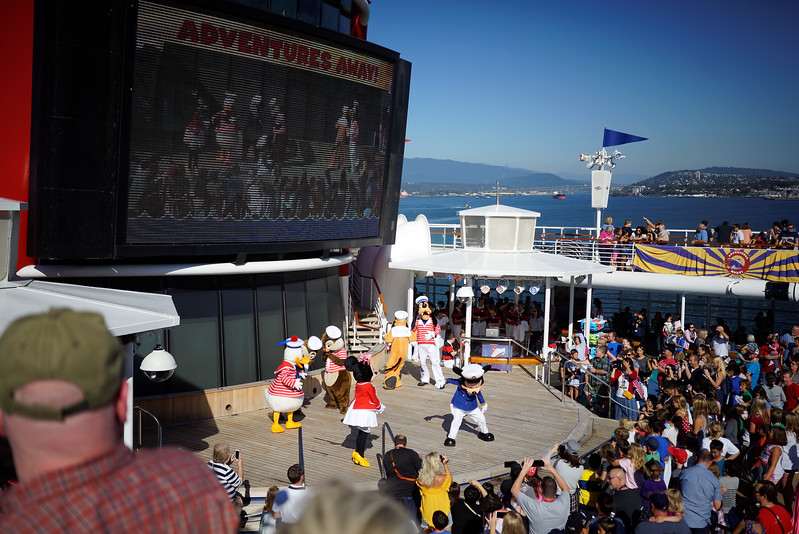 Vancouver. Disney Cruise Line trip to Alaska, August 15-22, 2016.
