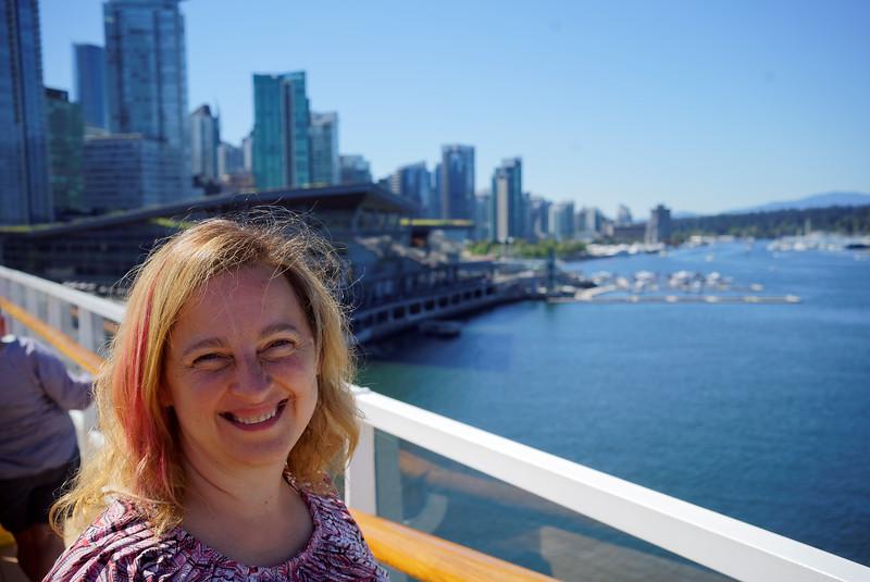 Vancouver. Disney Cruise Line trip to Alaska, August 15-22, 2016.