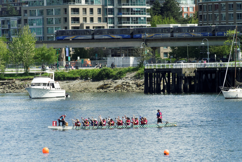 False Creek Racing Canoe Club Spring Knockout, Vancouver BC, May 6, 2017.