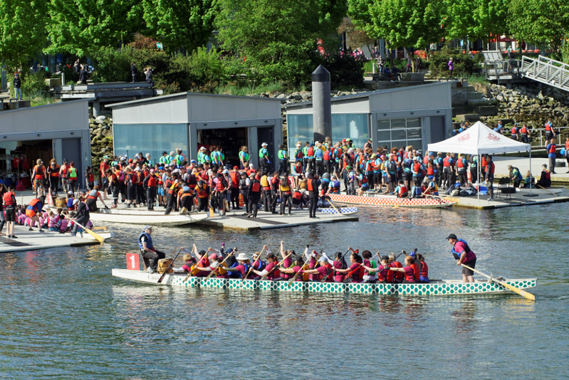 False Creek Racing Canoe Club Spring Knockout, Vancouver BC, May 6, 2017.