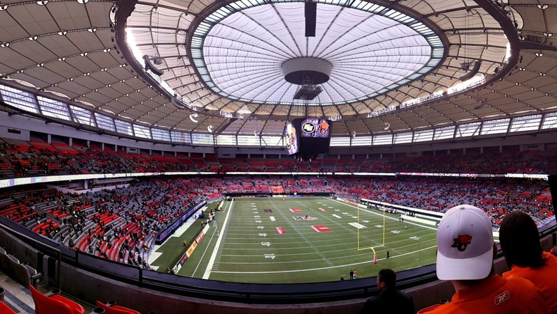 BC Place Stadium, CFL Western Final, BC Lions vs Edmonton Eskimos, Vancouver, November 20, 2011. Photosynth panorama.