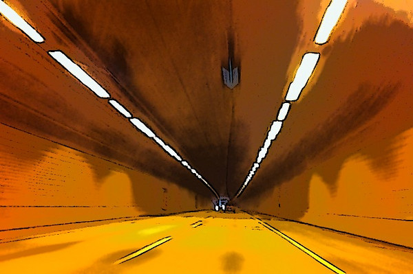 Inside the Cassiar Connector, Vancouver BC, January 8, 2011.<br /> <br /> Taken with ToonCamera.