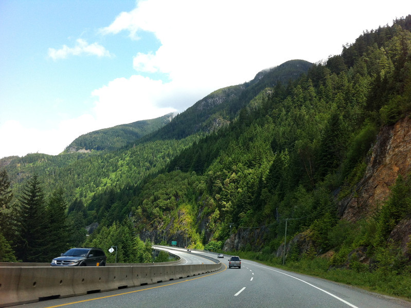 Sea to Sky Highway between Vancouver and Squamish, June 2, 2012.