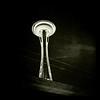 Space Needle (duh) at night, Seattle WA, April 2, 2012.