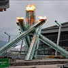 Olympic flame, 2010 Olympics, Vancouver BC, February 13, 2010.