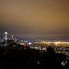 Seattle at night as seen from Queen Anne.