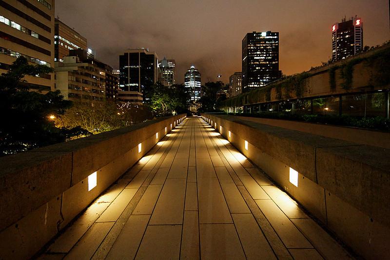 Robson Square at night, Vancouver BC, May 28, 2010.