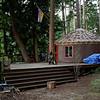 Yurt status: Still there, albeit dirtier.