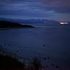 The mainland lights.