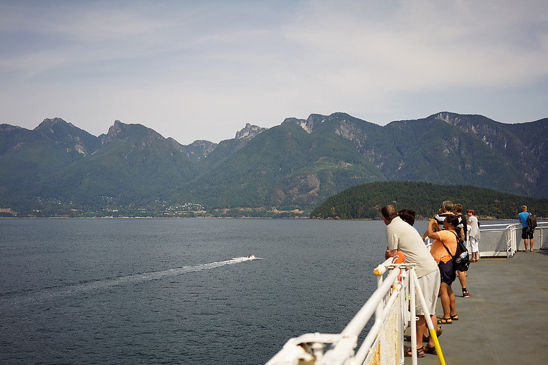 Howe Sound and the highway in the distance.